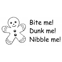 Bite me Gingerbread cling mounted rubber stamps