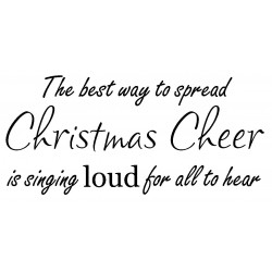 Christmas Cheer Cling Rubber Stamp