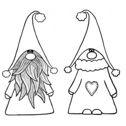 Nordic Gnomes Cling Rubber Stamps