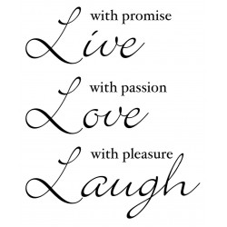 Live Love Laugh Rubber Stamp
