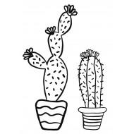 Cactus Rubber Stamp Set