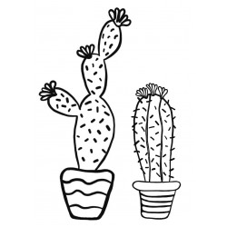 Cactus Rubber Stamp Set