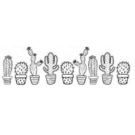 Cactus Border Rubber Stamp