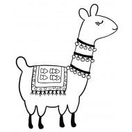 Liliana Llama Alpaca Rubber Stamp