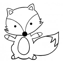 Felix Fox Rubber Stamp