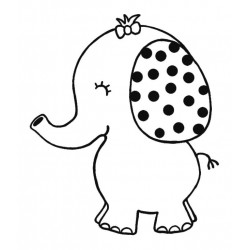 Ellie Elephant Rubber Stamp