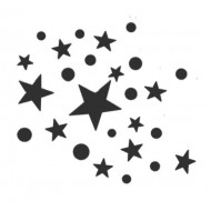 Star Cluster Cling Mounted Rubber Stamp