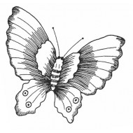 Lucy's Butterfly Small Rubber Stamp