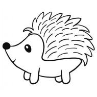 Hugo Hedgehog Rubber Stamp