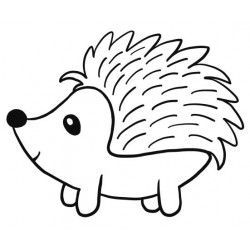 Hugo Hedgehog Rubber Stamp