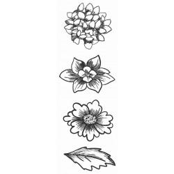 Flower Trio Medium Rubber Stamps