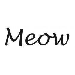Meow Rubber Stamp