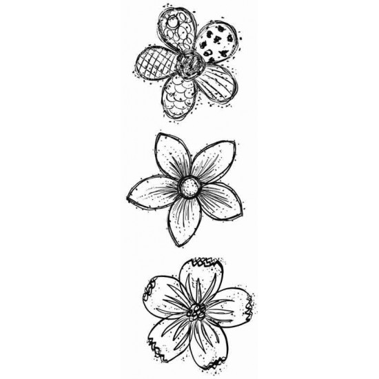 Doodle Blooms Rubber Stamps
