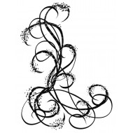 Doodle Swirls Rubber Stamp