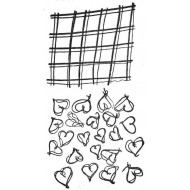 Pattern Patches - Hearts Rubber Stamp Set