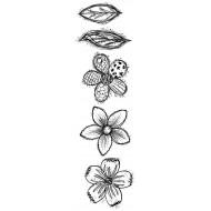 Doodle Blooms Medium Rubber Stamp Set