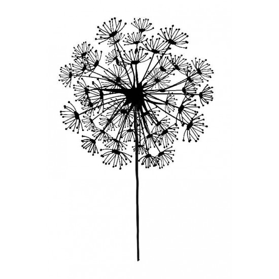 Small Dandelion Rubber Stamp