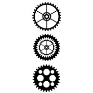 Solid Cogs Rubber Stamp Set