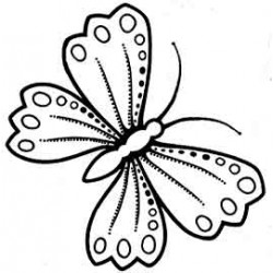 Sm Butterfly rubber stamp by Teri Sherman