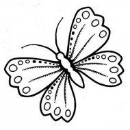 Lg Butterfly rubber stamp by Teri Sherman