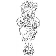 Sassy Lass Rubber Stamp