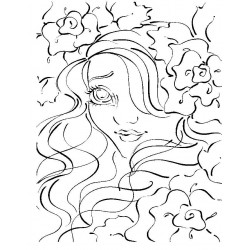 Aurora Tea Rose Cling Rubber Stamp