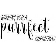 Purrfect Christmas Rubber Stamp