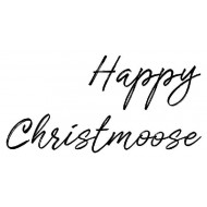 Happy Christmoose Rubber Stamp