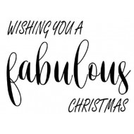 Fabulous Christmas Rubber Stamp
