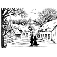 On a Winters Day Rubber Stamp