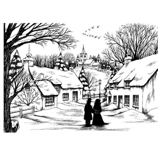 On a Winters Day Cling Rubber Stamp