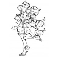 Bella Butterfly Rubber Stamp
