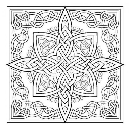 Celtic Knot Star Rubber Stamp