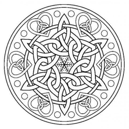 Celtic Knot Snowflake Rubber Stamp