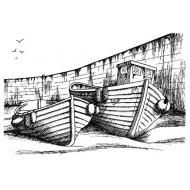 In the Harbour Rubber Stamp