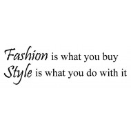 Fashion and Style Rubber Stamp
