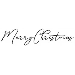 Cling Mounted Rubber Stamp Happy Christmas 7105
