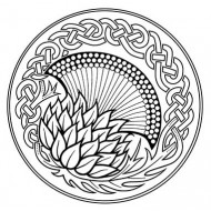 Celtic Knot Thistle Rubber Stamp