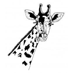 Gabby Giraffe Cling Rubber Stamp