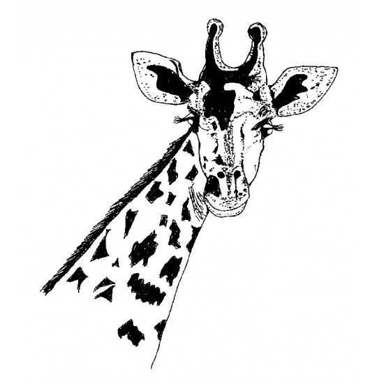 Gabby Giraffe Rubber Stamp