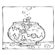 The Gin Bowl  Unmounted Rubber Stamp