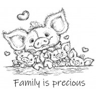 Family is precious Unmounted Rubber Stamp