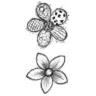 Doodle Blooms Super Sized Rubber Stamps