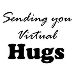 Sending you Virtual Hugs Rubber Stamp