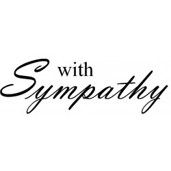 With Sympathy Rubber Stamp Large