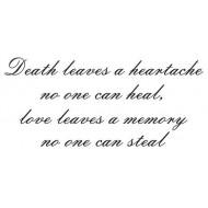 Death leaves a heartache script  Large Cling Rubber Stamp