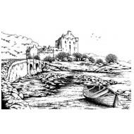 Scottish Castle Cling Rubber Stamp