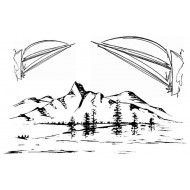 Scenic Sailing Cling Rubber Stamp Set
