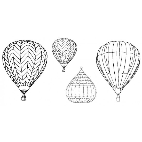 Hot Air Balloons Rubber Stamp Set