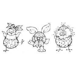 Easter Friends Cling Rubber Stamps